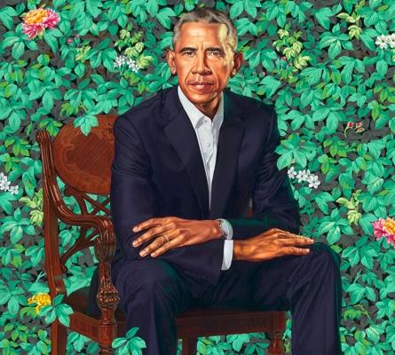 Obama portrait by Kihinde Wiley